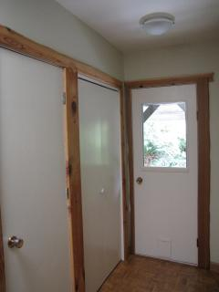 Closets and Exterior East Door
