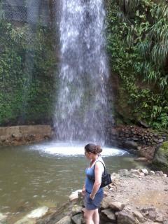 Diamond falls, one of my favorite spots on the island.