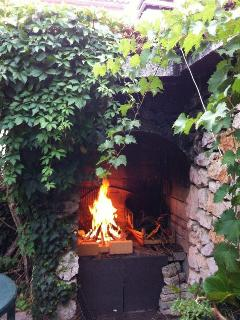 fireplace in the garden