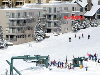 Literally steps from the slopes. Watch the kids or toss your buddy a beer from the balcony.