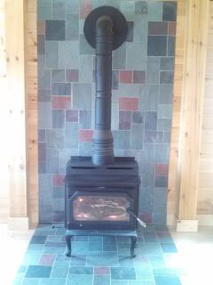 living room-wood stove