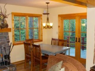 Dining Room leads to huge deck overlooking Diamond Peak