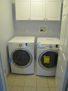 Laundry room with new front-loaders