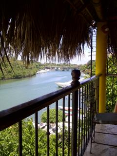 Pizzería del Río, La Romana, wood oven baked pizzas at great prices and even greater views.