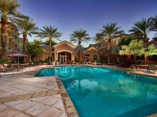 Heated pool with spa and fitness center