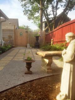 Enter Through a Private Courtyard Garden