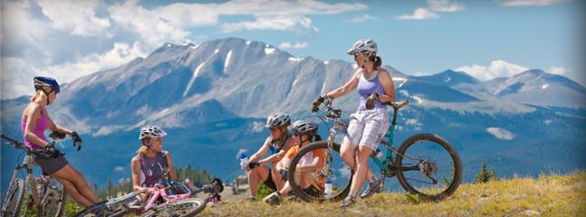 Awesome mountain biking out your door.  Ski and bike rental onsite