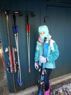 Outdoor Ski Rack at  Cottage