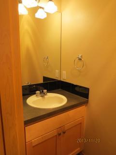 half bathroom on 1st floor