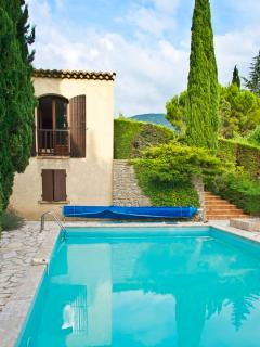 view on the pool and part of the villa