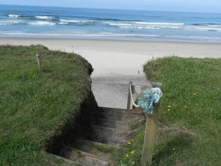 'Private Beach Access' About a dozen steps and you're on the beach.