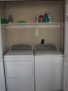 Washer and Dryer - Basic laundry essentials provided
