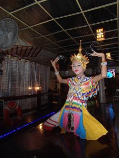 Traditional dancing at our downtown Thai X-ing Pizza