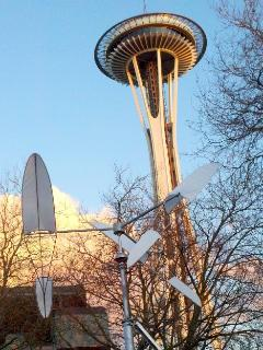 Seattle's iconic Space Needle -- a tourist's must see