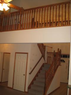 Stairs to second floor & hallway connecting bedrooms on 2nd floor