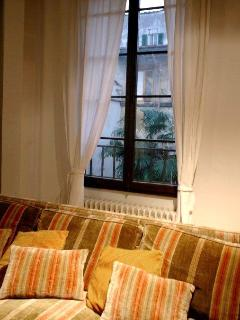 all windows overlook a quiet private garden