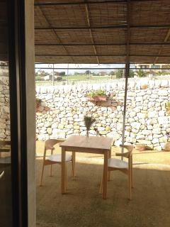 Outdoor private area of the Studio