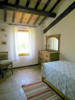 One of the twin rooms