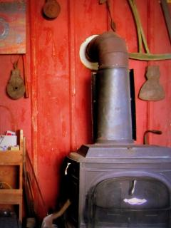 A wood-burning stove in the living room . . . perfect for cold Minnesota nights!