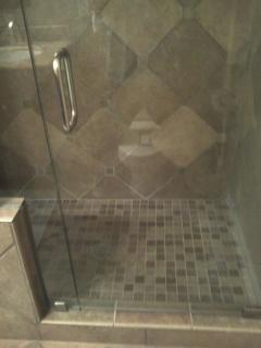 Single unit with standing shower