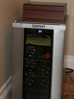 Use the wine fridge and, if you partake (outside!), a cigar humidor.