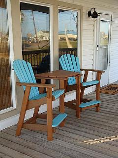 See and listen to the waves crashing while you have you r morning coffee on the covered deck
