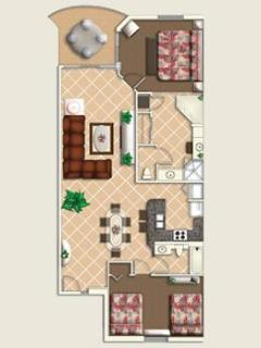 Lay Out Plan of 2 Bedroom Standard