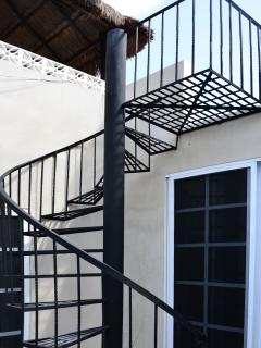 Stairs to private rooftop
