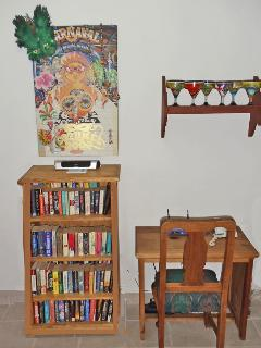 The bookcase and computer table