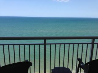 Oceanfront view from the private balcony