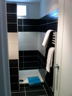New walk in shower room
