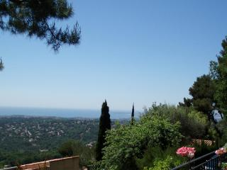 The stunning view over the riviera and the sea from the villa