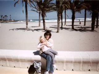 large safe sandy beach