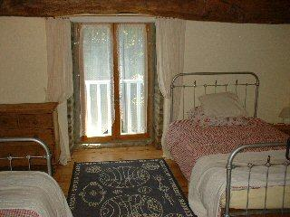 The double bedded room