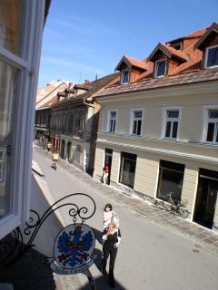 Window view from studio