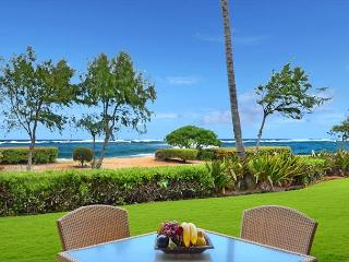 A106 Beach FRONT* w/yard & FAST wifi ****Call/E-mail NOW for **FAST quote**, Kapaa