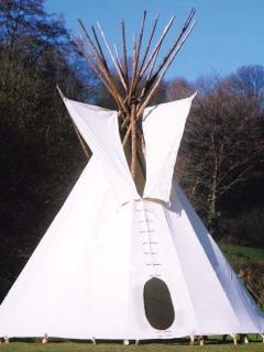 Our authentic indian teepee sleeps up to six