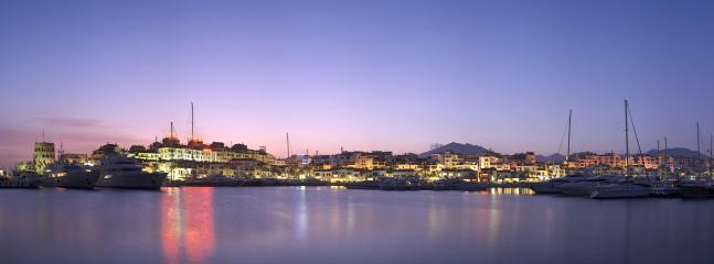 View of Port at Night! Incredible