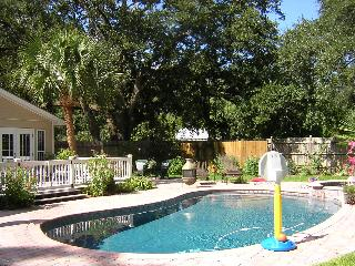 Pool & Patio in the Fenced in Yard