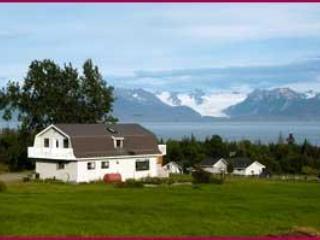 Grewingk glaciar y la casa
