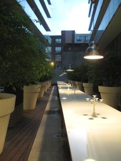 Philippe Starck designed courtyard