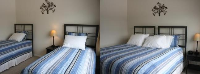 Second bedroom, two options - two twin beds or one king bed - both with memory foam tops