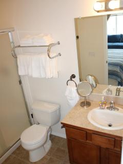 All linens and towels provided.  One bathroom has shower, the other has bathtub