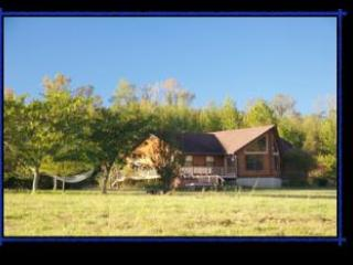 Large yard with room to play. 2 miles of mowed trails around the property and to the river.