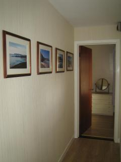 Hallway showing a selection of local photos