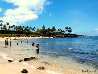 World-famous Kapalua beach on your left