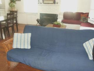 High-end double mattress futon in living room