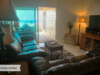 Ocean View Living Room, Patio, Sand and Ocean