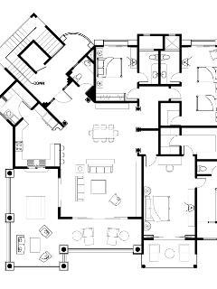 Floor plan of the condo unit.