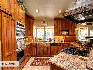 It really is a gourmet kitchen!  Check out the copper hood!